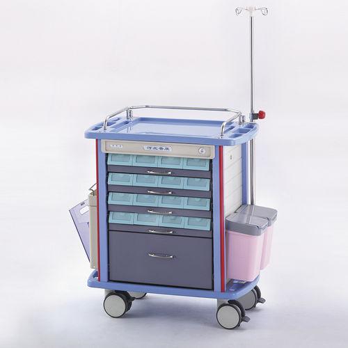 medicine distribution trolley / transport / medication / with drawer