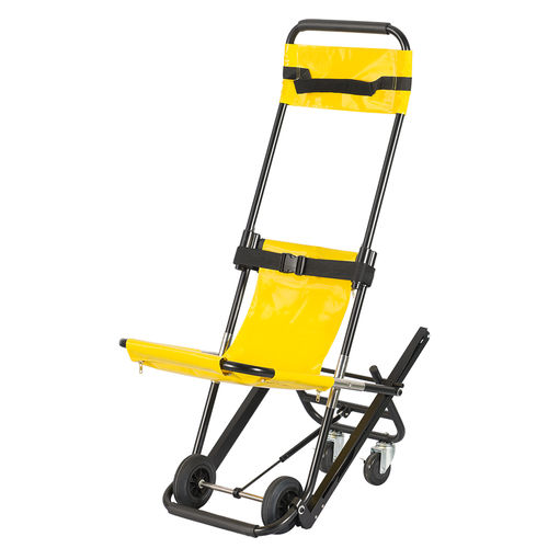adjustable stretcher chair / on casters / with legrest