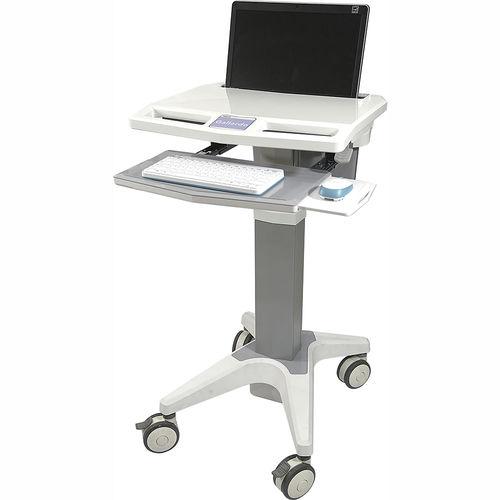 height-adjustable computer cart