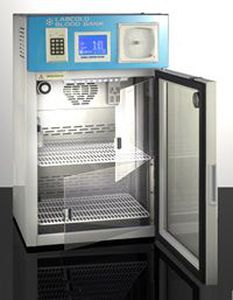blood bank refrigerator / compact / bench-top / stainless steel