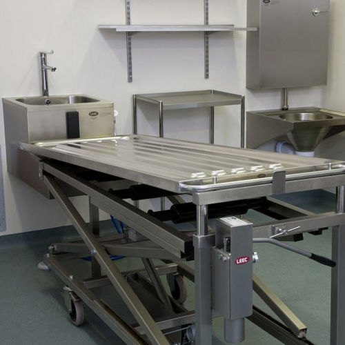 stainless steel embalming workstation