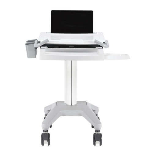 medical computing cart / for tablet PC / height-adjustable