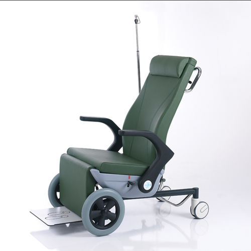 indoor transfer chair / outdoor / on casters / reclining
