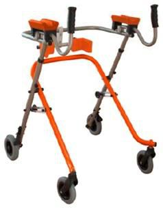 height-adjustable walker / pediatric / with elbow-rest