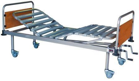 medical bed / electric / height-adjustable / on casters