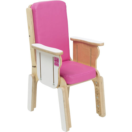 pediatric chair / with armrests / height-adjustable