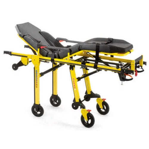 transport stretcher trolley / emergency / manual / folding