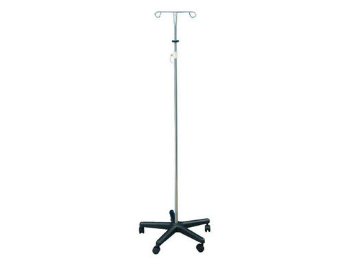 IV pole on casters