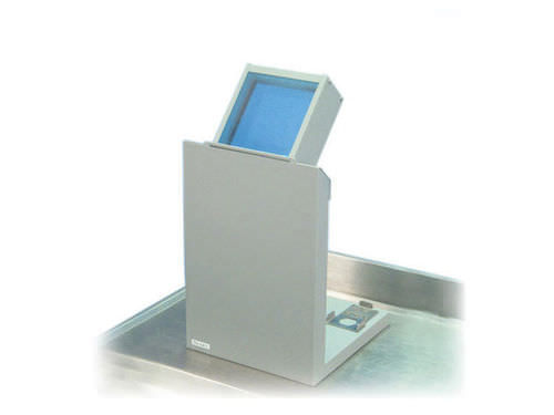 X-ray radiation shielding screen / bench-top / with window