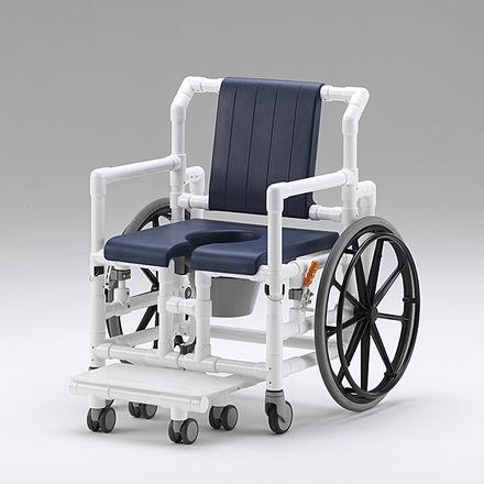 passive wheelchair / bariatric / shower / with legrest