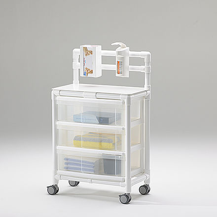 auxiliary trolley / transport / for general purpose / 3-drawer