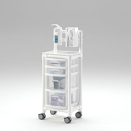 auxiliary trolley / transport / for general purpose / 4-drawer