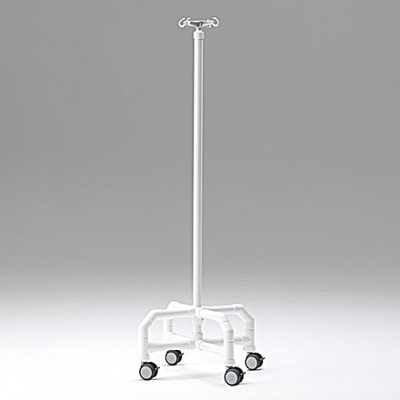 IV pole on casters / 4-hook / non-magnetic