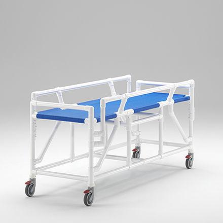 transfer stretcher trolley / manual / non-magnetic / MRI