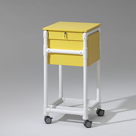 storage cart / medical records / with shelf / medical