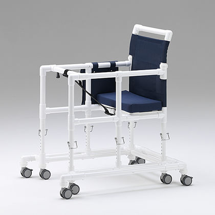 6-caster rollator / with seat / height-adjustable / bariatric