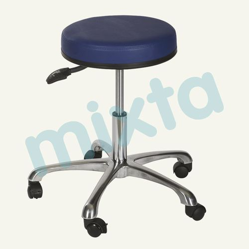 doctor's office stool / stainless steel / on casters