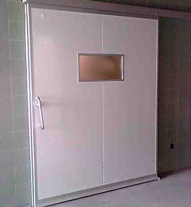 sliding door / MRI / for healthcare facilities / hermetic
