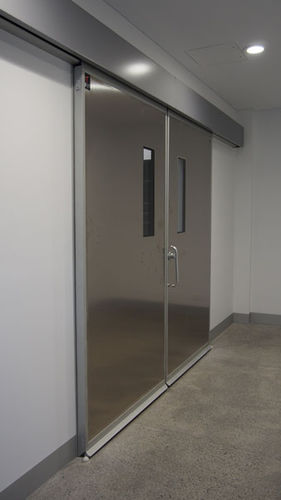sliding door / hospital / laboratory / for healthcare facilities