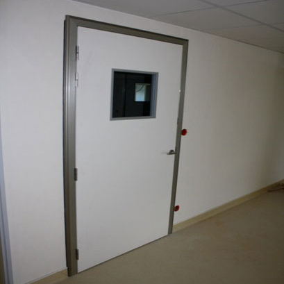 swing door / MRI / stainless steel / shielded
