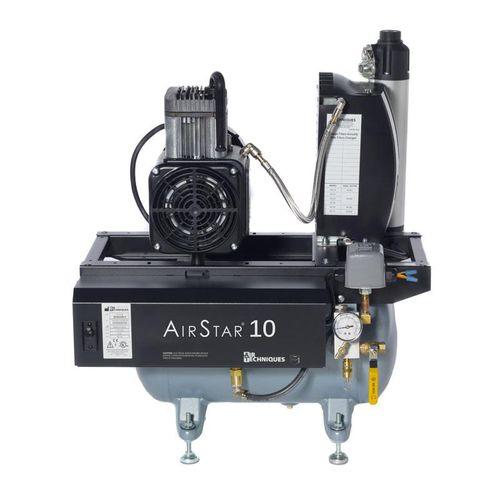 dental compressor / medical / 2-workstation / oil-free