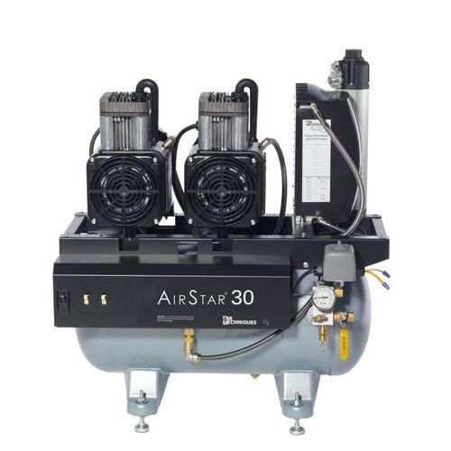 medical compressor / dental / 4-workstation / with air dryer