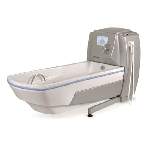 whole body balneotherapy bathtub / height-adjustable / with chromotherapy lamps