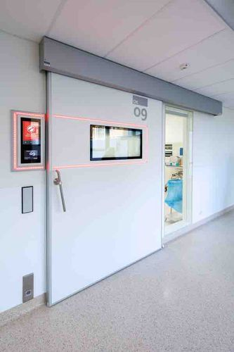 sliding door / MRI / for radiology services / intensive care