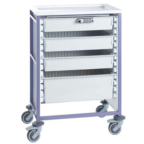 treatment trolley / medicine distribution / transport / for medicine