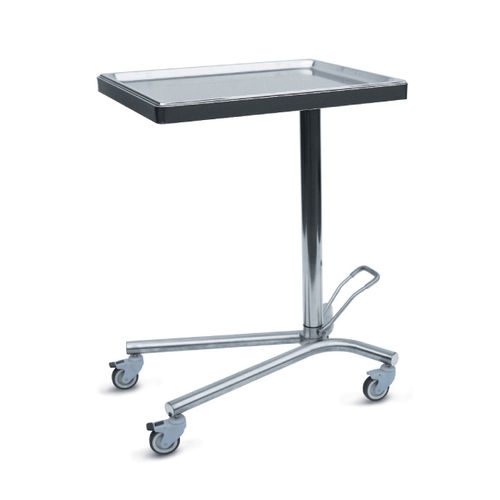 stainless steel Mayo table / with brake