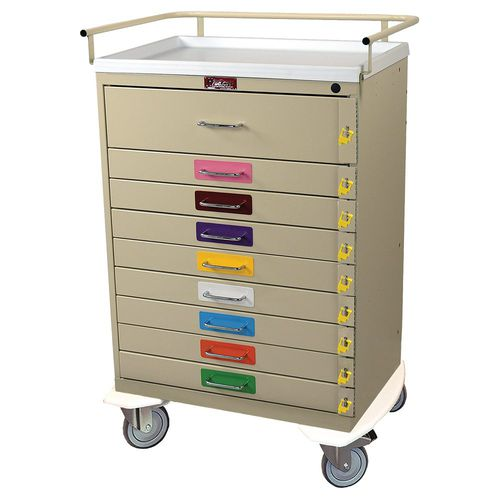 emergency trolley / for general purpose / with drawer / pediatric