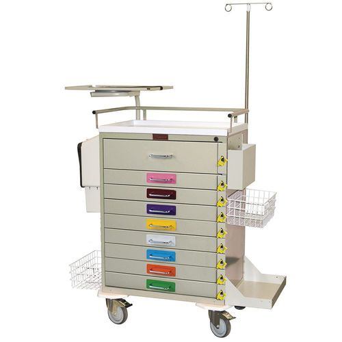 emergency trolley / service / for general purpose / with drawer