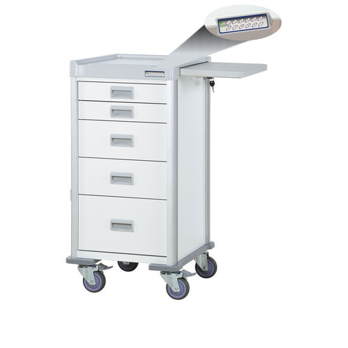 multi-function trolley / 5-drawer / with electronic lock / aluminum