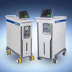 lithotripsy laser / Ho:YAG / trolley-mounted