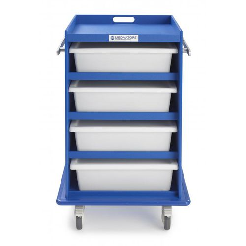 transport cart / for endoscopes / with drawer