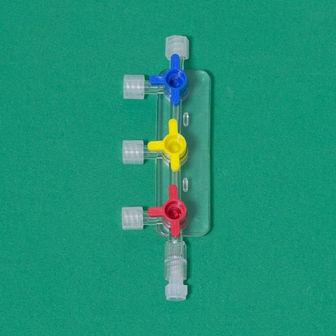 3 ports infusion manifold