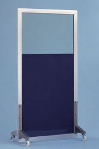 X-ray radiation shielding screen / mobile / with window