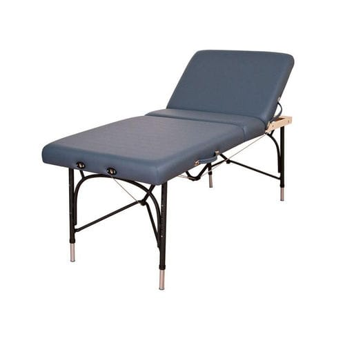 manual massage table / portable / height-adjustable / 3-section