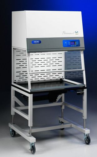 laboratory fume hood / exhaust / on casters / with HEPA filter