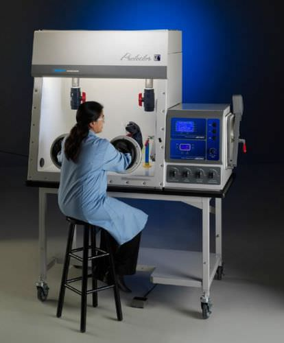laboratory glove box / benchtop / with HEPA filter / controlled atmosphere