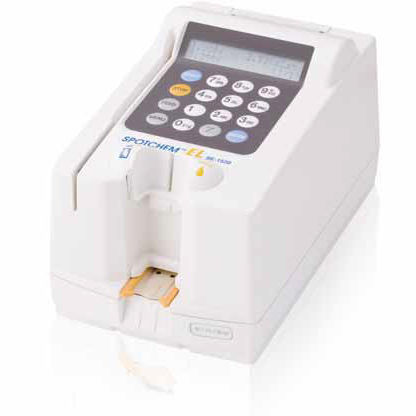 Cl- electrolyte analyzer / Na+ / K+ / for humans