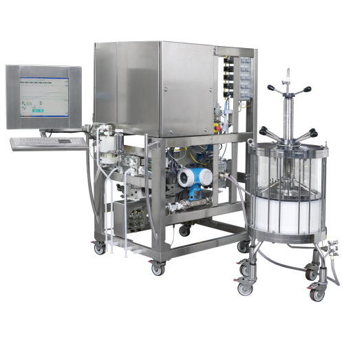 preparative liquid chromatography system / for the pharmaceutical industry / compact