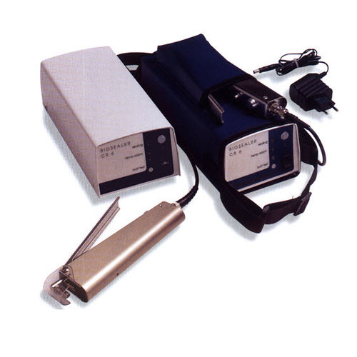 blood bag tube thermosealer / battery-operated / benchtop