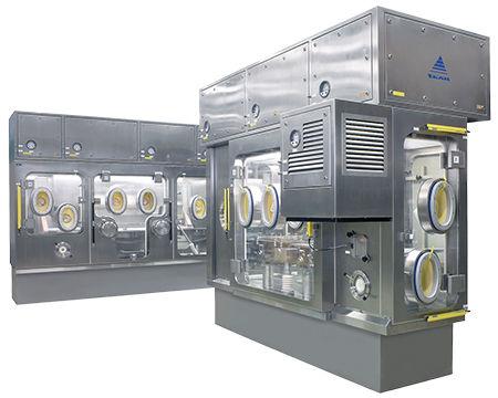 class III isolator / aseptic / floor-standing / stainless steel