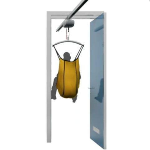 pivoting door / sliding / for healthcare facilities / aluminum