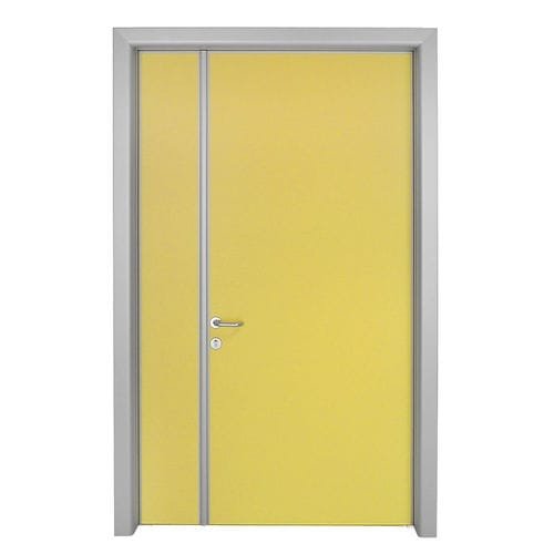 swing door / hospital / aluminum / double