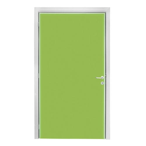 swing door / hospital / lead-lined / double-leaf
