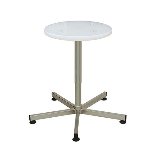 laboratory stool / height-adjustable / stainless steel