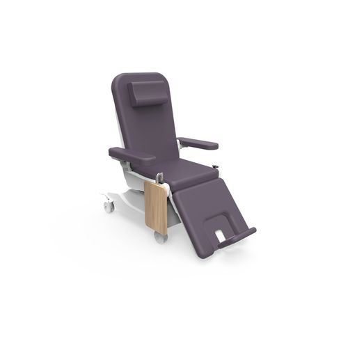 electric dialysis chair / 3-section / height-adjustable / on casters
