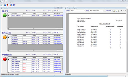 monitoring software module / management / visualization / reporting